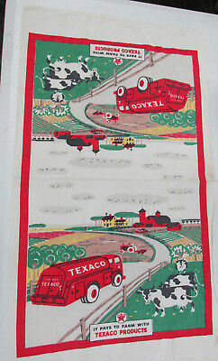1950'S Original Texaco Hand Towel Gasoline Station Giveaway