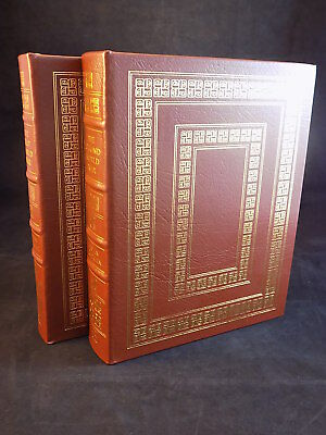 THE EASTON PRESS THE FIRST & SECOND WORLD WAR By John KEGAN Leather VERY GOOD
