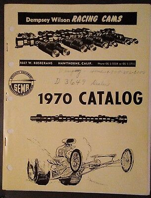 Dempsey Wilson Racing Cams Catalog 1970 dealer letter Autograghed by D.Wilson