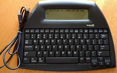 Neo 2 Alphasmart Word Processer Keyboard With USB Cable MANY AVAILABLE!