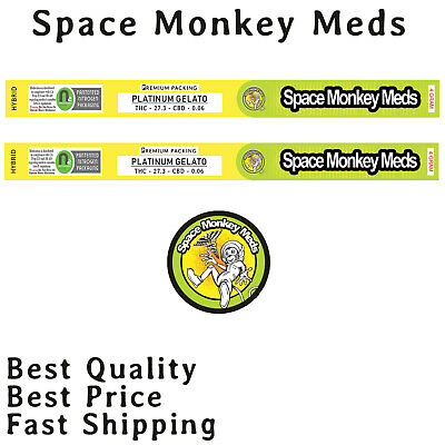 Sky Walker O.g Space Monkey Meds Cali Tin Labels 4Gram Stickers