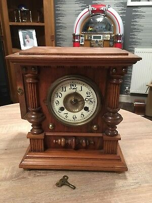 Antique mantle clock made by H.A.C. 8 day Strike early 1900's No 1885 German