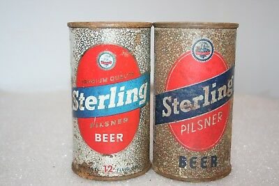 Sterling Pilsner OI & regular Beer 12 oz. flat top beer cans from Indiana