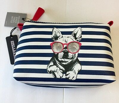 French Bulldog Vinyl Makeup Bag