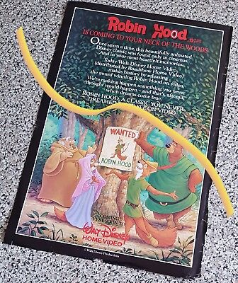 large 1985 Walt Disney Home Video advert for ROBIN HOOD
