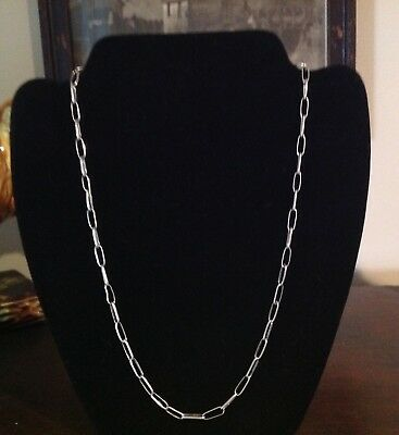 Vintage Navajo Handmade Sterling Silver Link Chain Necklace