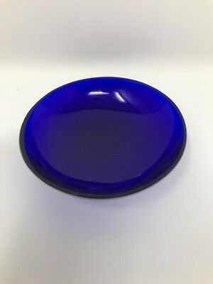 Vintage Cobalt Glass Liner For Salt 3""