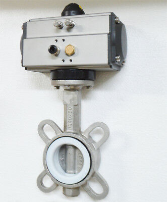 2'' Single Acting Butterfly Valve Pneumatic Air Actuated Ball Valve Ball Pipe