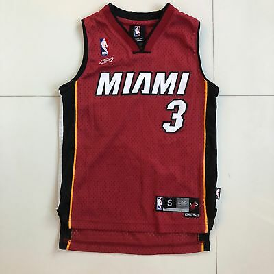 0cbfa5b3ae6 Dwyane Wade  3 Miami Heat Swingman Red Jersey ADIDAS Youth Small Vintage EUC