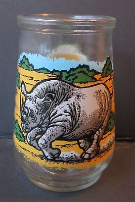 WELCH'S BLACK RHINO COLLECTIBLE GLASS, Endangered Species Collection