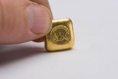 Gold Bullion 1 oz ABC .9999 Pure Solid Gold Bar 24 ct one ounce square shape