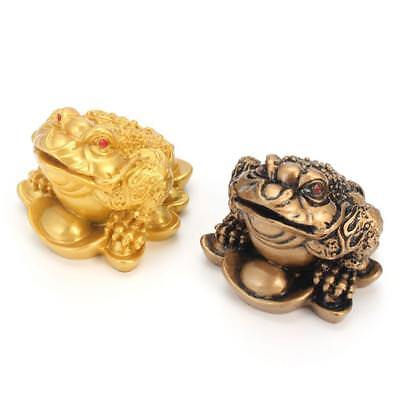 Feng Shui Money LUCKY Fortune Wealth Chinese For Frog Toad Coin Office Decorate!