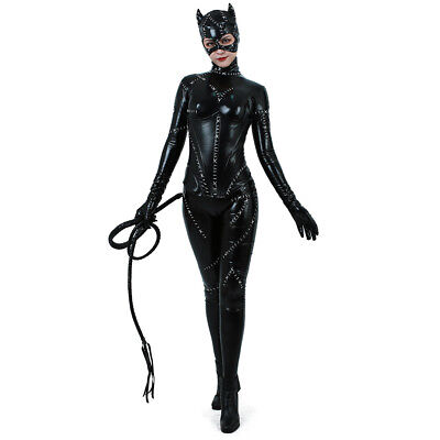Catwoman Costume Adult Sexy Suit Cosplay Black Catsuit