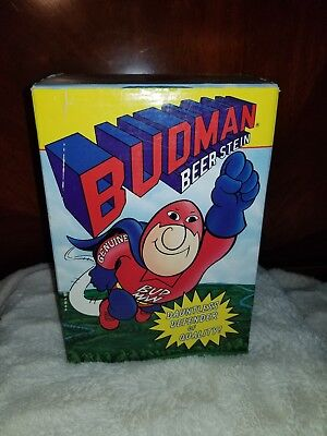 1989 Budweiser Bud Man Beer Stein Collector's Edition In Box