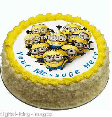 Cake topper edible image icing Despicable me Minions REAL FONDANT