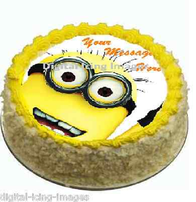 Cake topper edible  image icing Minion Despicable Me REAL FONDANT not rice paper