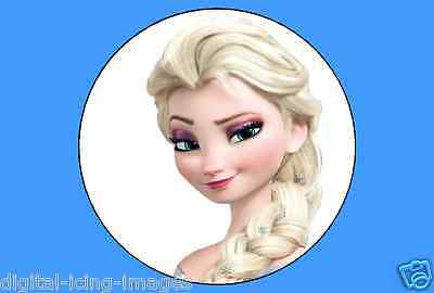 cupcake toppers x 12 edible  image icing Frozen Elsa REAL FONDANT not rice paper