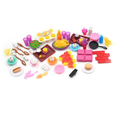 Dollhouse Miniature Cooking kitchen food Set For Doll Kids Play House Toy JDUK