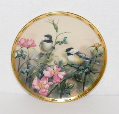 """Lenox Plate Nature's Collage 8"""" Plate """"rose Morning"""" 1992 Catherine Mcclung"""