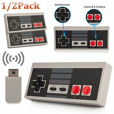 Wireless Game Controller Gamepad Joypad For Nintendo NES Classic Edition Console
