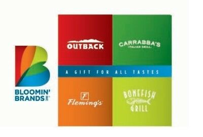 $250 Gift Card for Outback Steakhouse, Bonefish Grill, Carrabba's, & Fleming's