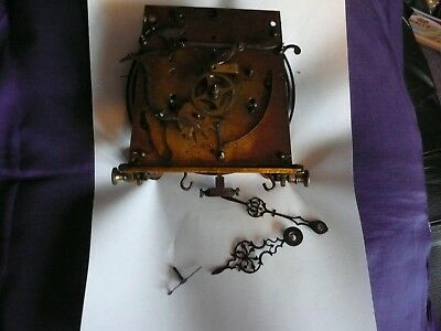 Vienna Wall Clock Double Weight Movement For Spares Etc