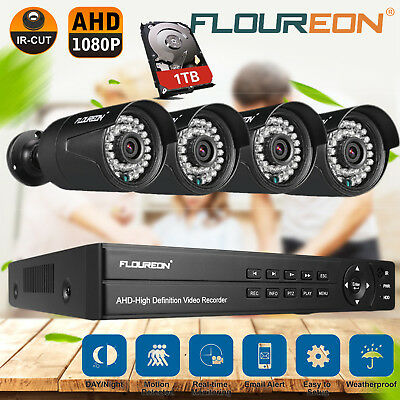 8CH 1080N DVR 3000TVL CCTV IR Surveillance Security Camera System Night 1TB HDD