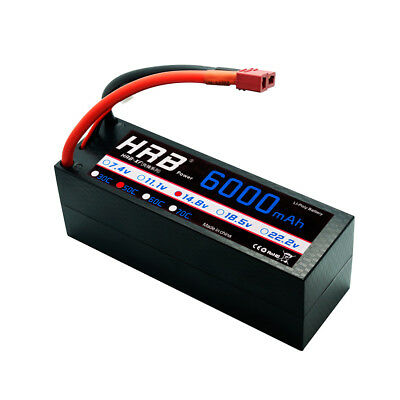 HRB 4S 14.8V 6000mAh Lipo Battery 50C 100C Hard Case for RC Car Truck Drone Boat