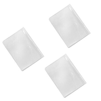 3pcs Waterproof Plastic Passport Cover Card Organizer Protector Case Clear
