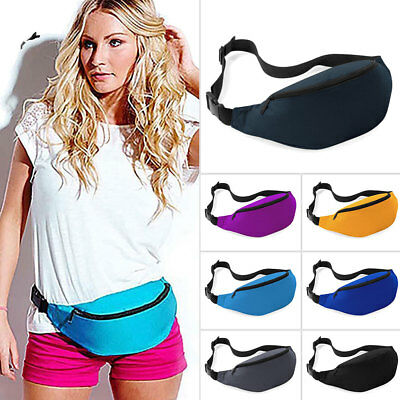 Bum Bag Fanny Pack Pouch Travel Festival Waist Belt Holiday Money BG UK 7FBC