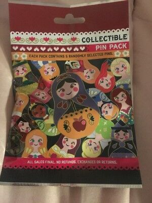 Disney * NESTING DOLLS * 5 PACKS * NEW 5-pin Collectible Mystery Pack Pins