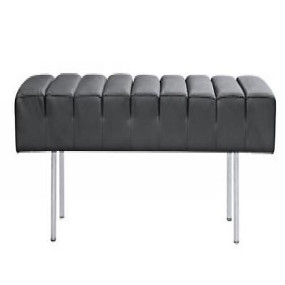 Fine Mod Imports  Classic Leather Bench 3 Seater
