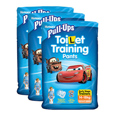 NEW Huggies Pull-Ups Early Stage Trainers Boy 13 Pack X3