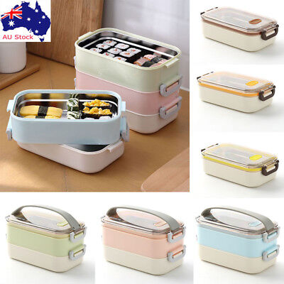 AU Insulated Lunch Box Food Storage Container Thermo Server Stainless Thermal