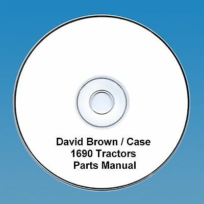 David Brown / Case 1690 Tractors  Parts Manual PDF CD