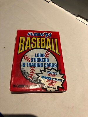 1991 Fleer Baseball Card Unopened Pack