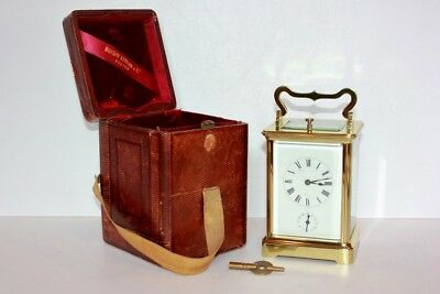 Antique Repeating Carriage Clock With Alarm And Case