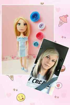 Hand-Made Textile Doll Made Off a Portrait Look Alike Perfect Gift Idea