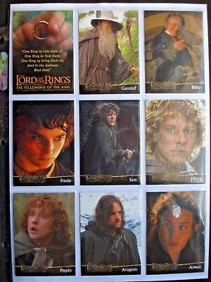 2001 Cadbury/topps *lord Of The Rings: Fellowship* Complete 20 Card Promo Set