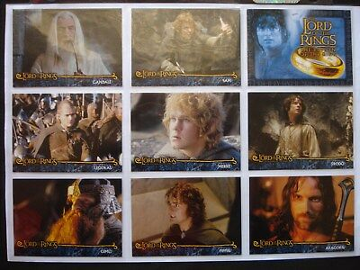 2002 Cadbury/topps *lord Of The Rings: Return Of The King* Complete 20 Card Set