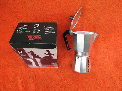 New Verna Expresso Coffee Maker - 9 Tazze Cups