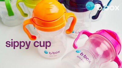 B.BOX Sippy Cup 6m+ 240ml Baby Toddler Drinking Bottle & Neon Edition