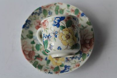 CROWN STAFFORDSHIRE COFFEE CAN COFFEE CUP DEMI TASSE & SAUCER 1945c ESPRESSO