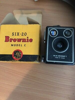 Boxed Brownie Six 20 Model C Camera