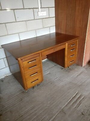 Great Western Railway Abbess Antique Vintage Station Masters Bureau Writing Desk