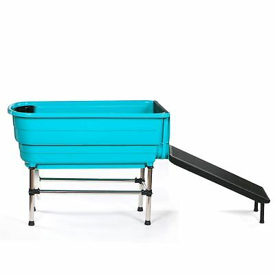 Pedigroom Pet Dog Booster Bath With Ramp Plastic Mobile Portable Grooming Tub