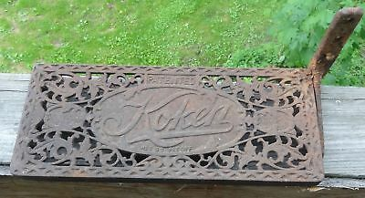 Antique Cast Iron Koken Barbers Chair Foot Rest Ankle Rest