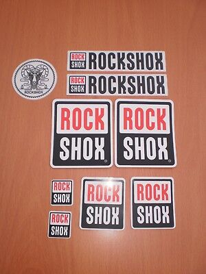 Rockshox Aufkleber Sticker Set  MTB Cycling Neu !