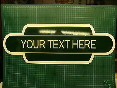 A Rigid Railway Station sign in a totem style. Great gift idea & free P&P 590mm