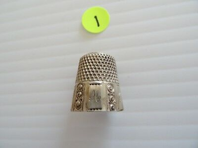 Antique Sterling Silver Sewing THIMBLE